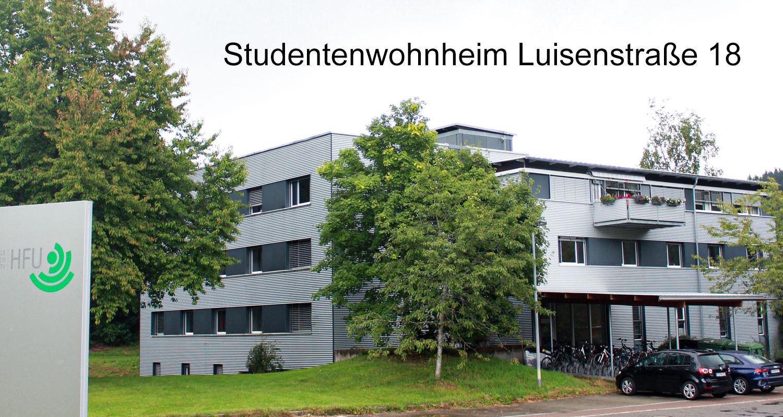 Zimmer Studenten Wohnheim Luisenstrasse in Furtwangen neben der HFU